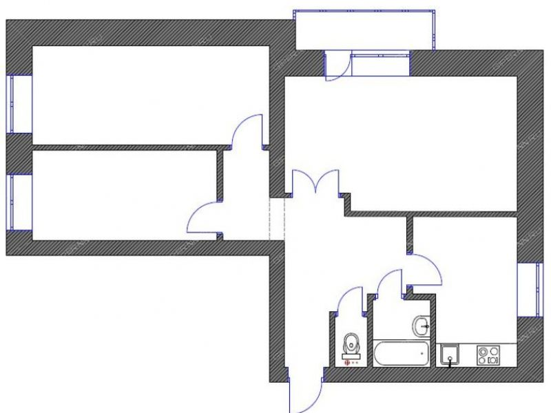 трёхкомнатная квартира на улице Волжский Рейд дом 35а город Балахна