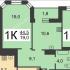 однокомнатная квартира на набережной Волжская дом 19