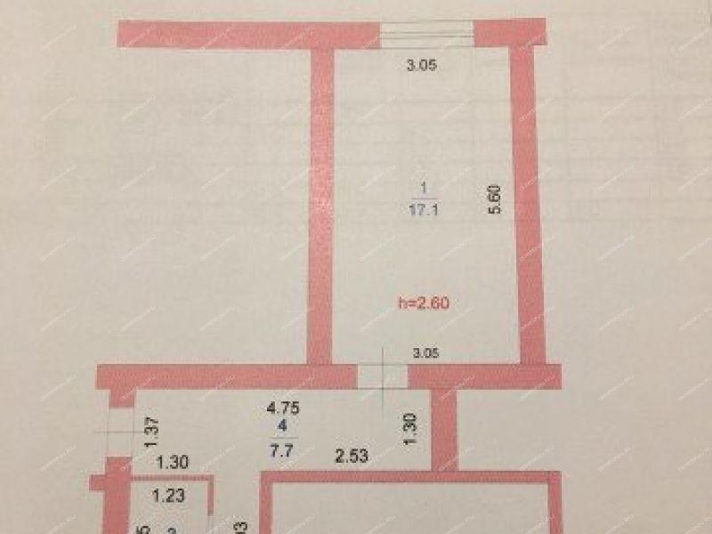 однокомнатная квартира на улице Адмирала Макарова дом 27 город Кулебаки